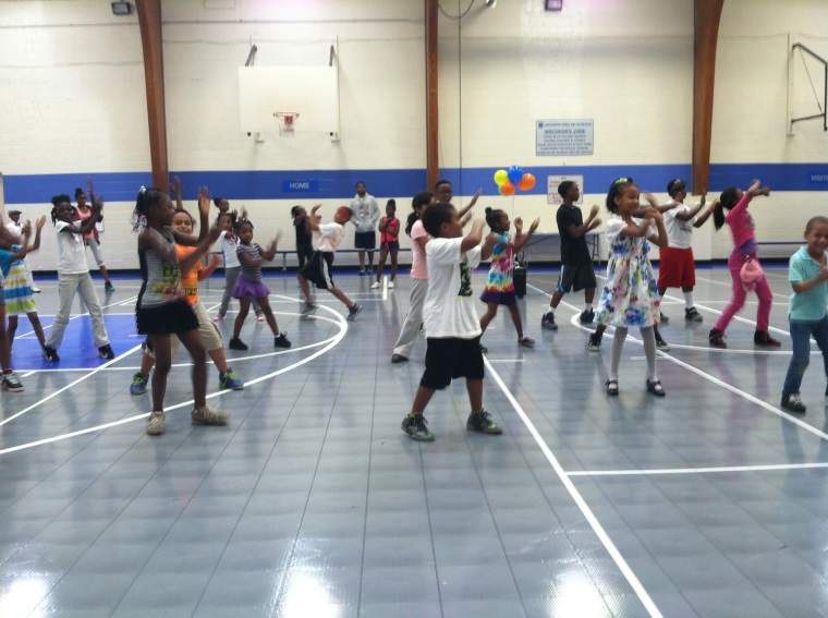 Kids Dancing in the Gym