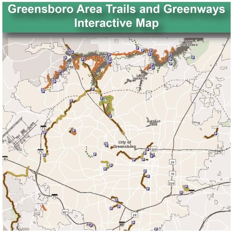 City Of Greensboro NC Trails Greenways - Greensboro nc on us map