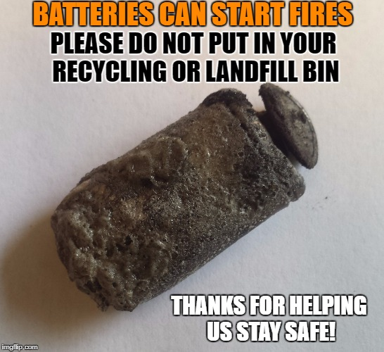 Battery at Recycling Center meme