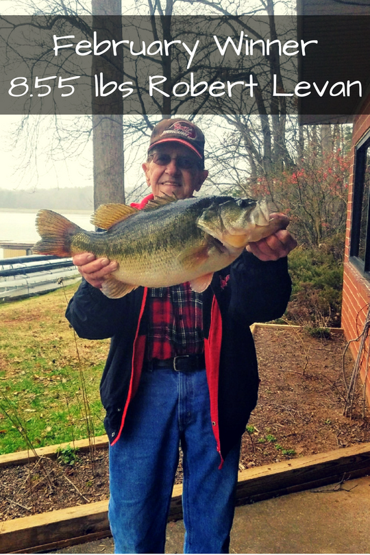 Robert Levan was our February 2018 Big Bass Battle winner, with a 8.55 lb fish.
