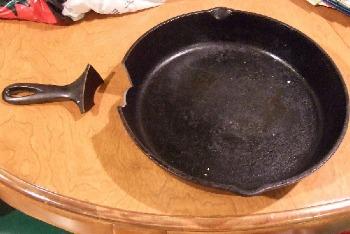 broken metal pan