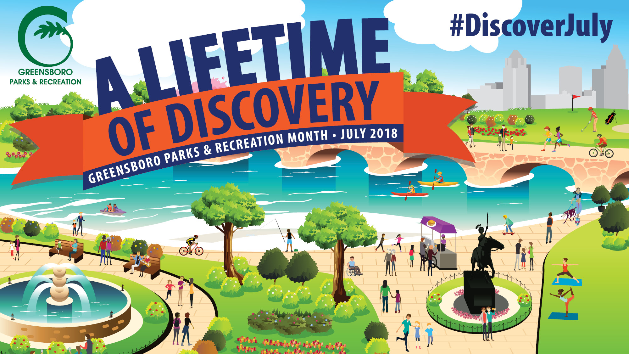 Parks and Recreation Celebrates 'A Lifetime of Discovery' in July