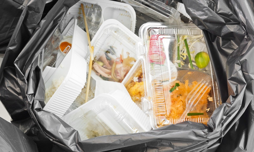takeout food waste
