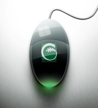 Greensboro Logo on Mouse