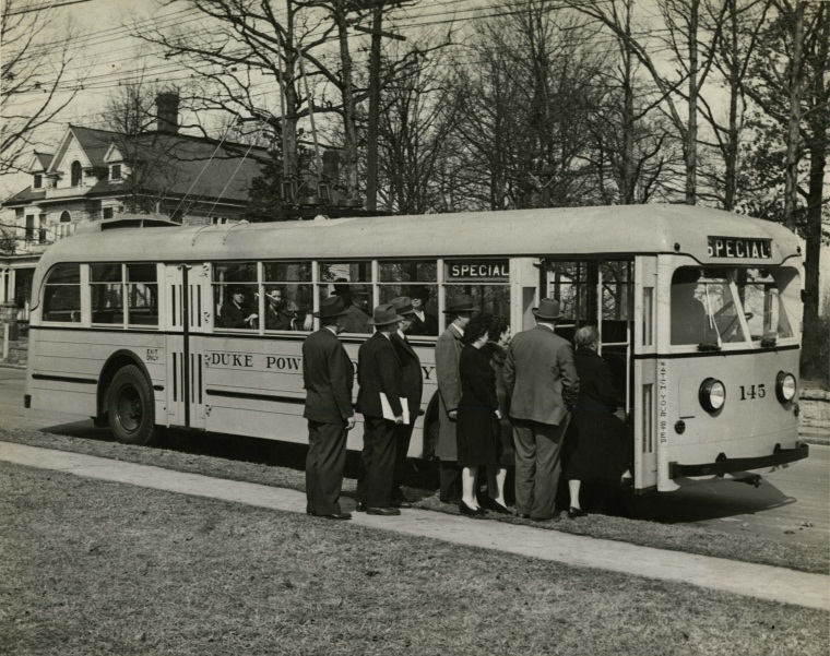 Historic Bus Photo from Spring Garden Street 1944