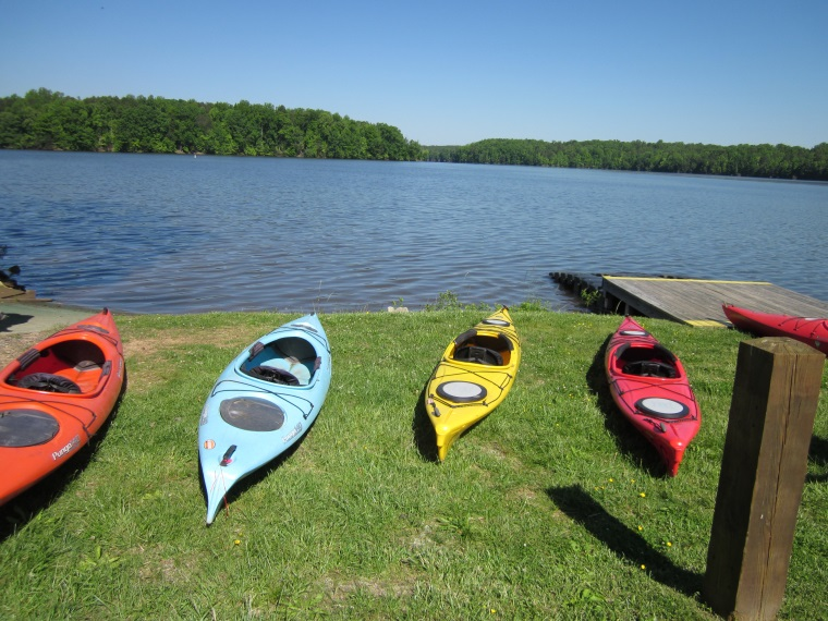 Kayaks at Lake Brandt