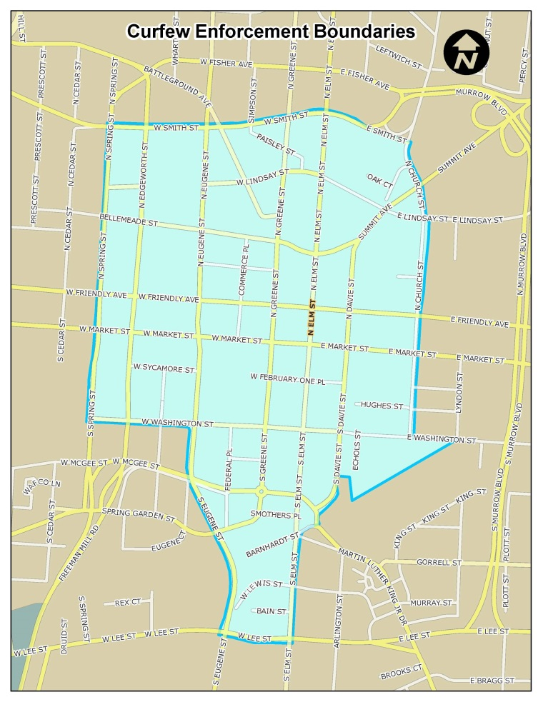 2013 Summer Curfew Boundary Map