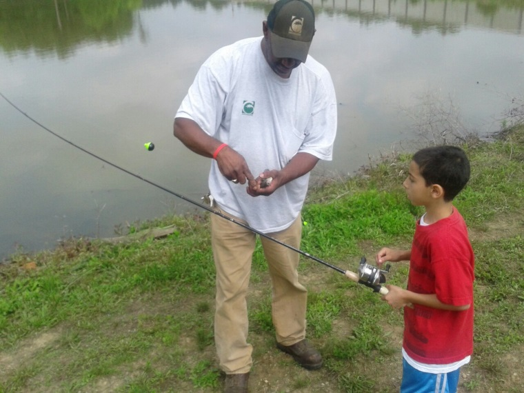 Adult and Kid Fishing