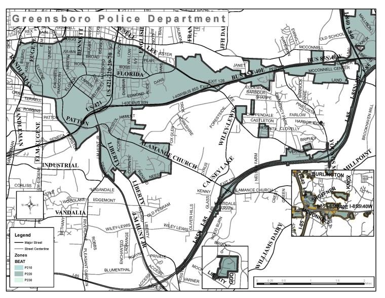 Police Division 2, Zone 220 | Greensboro, NC on