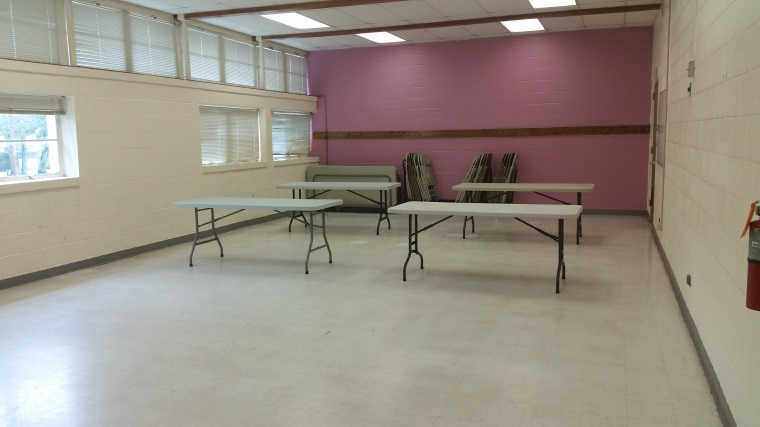 empty room with tables