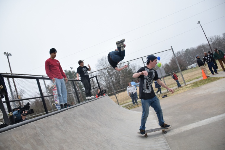 Man skateboarding at Glenwood Skate Spot