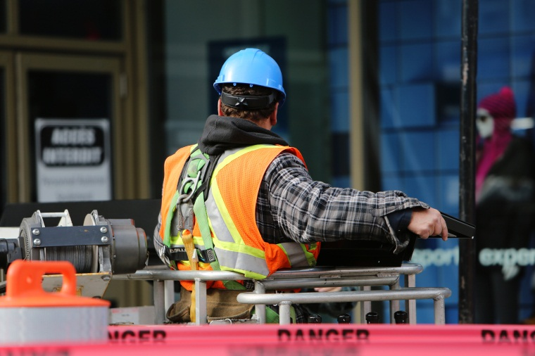 employee worker outside ppe