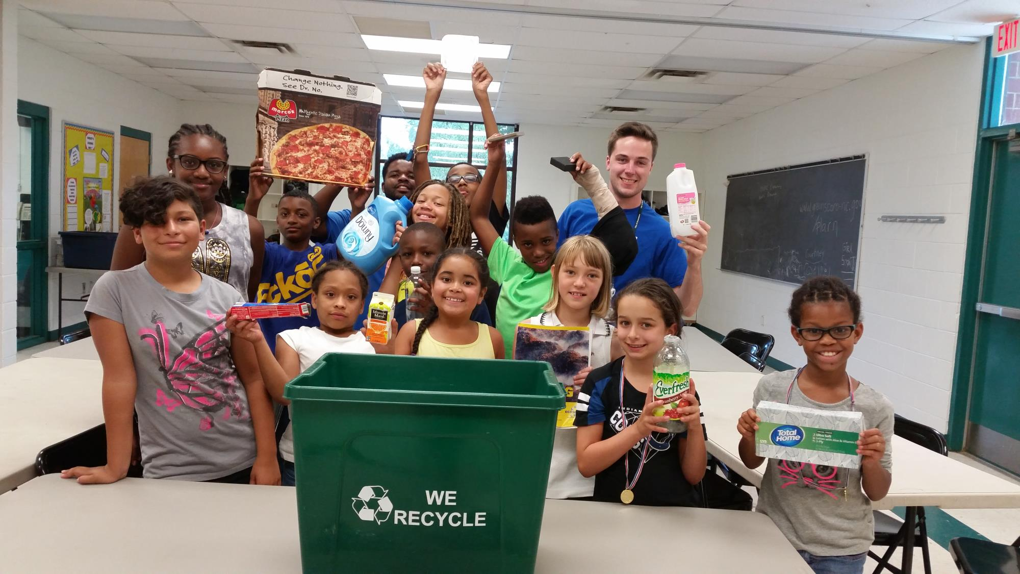 Recycle Edu at Leonard Rec Summer Camp