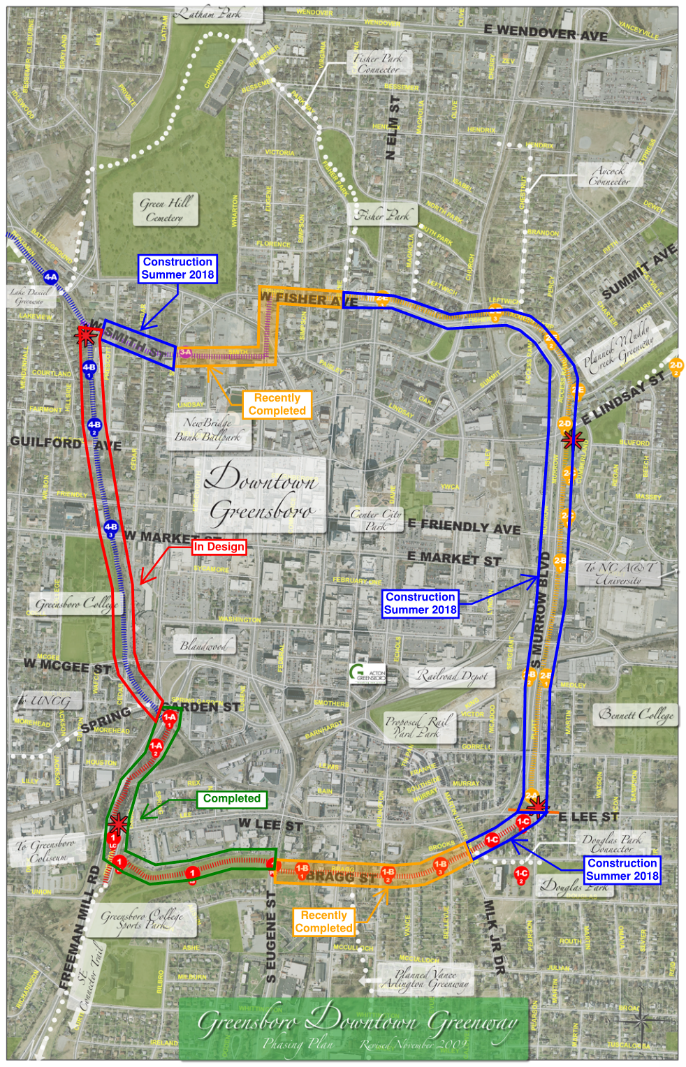 Downtown Greenway | Greensboro, NC on map of salemburg nc, map of atlanta, map of raleigh nc, map of columbus ga, map of saxapahaw nc, map of charlotte nc, map of memphis tn, map of greenville nc, map of hog island nc, map of charlottesville nc, map of bunnlevel nc, map of moyock nc, map of ferguson nc, map of north carolina, map of clarksville nc, map of asheville nc, map of ogden nc, map of orange co nc, map of biltmore forest nc, map of griffin nc,