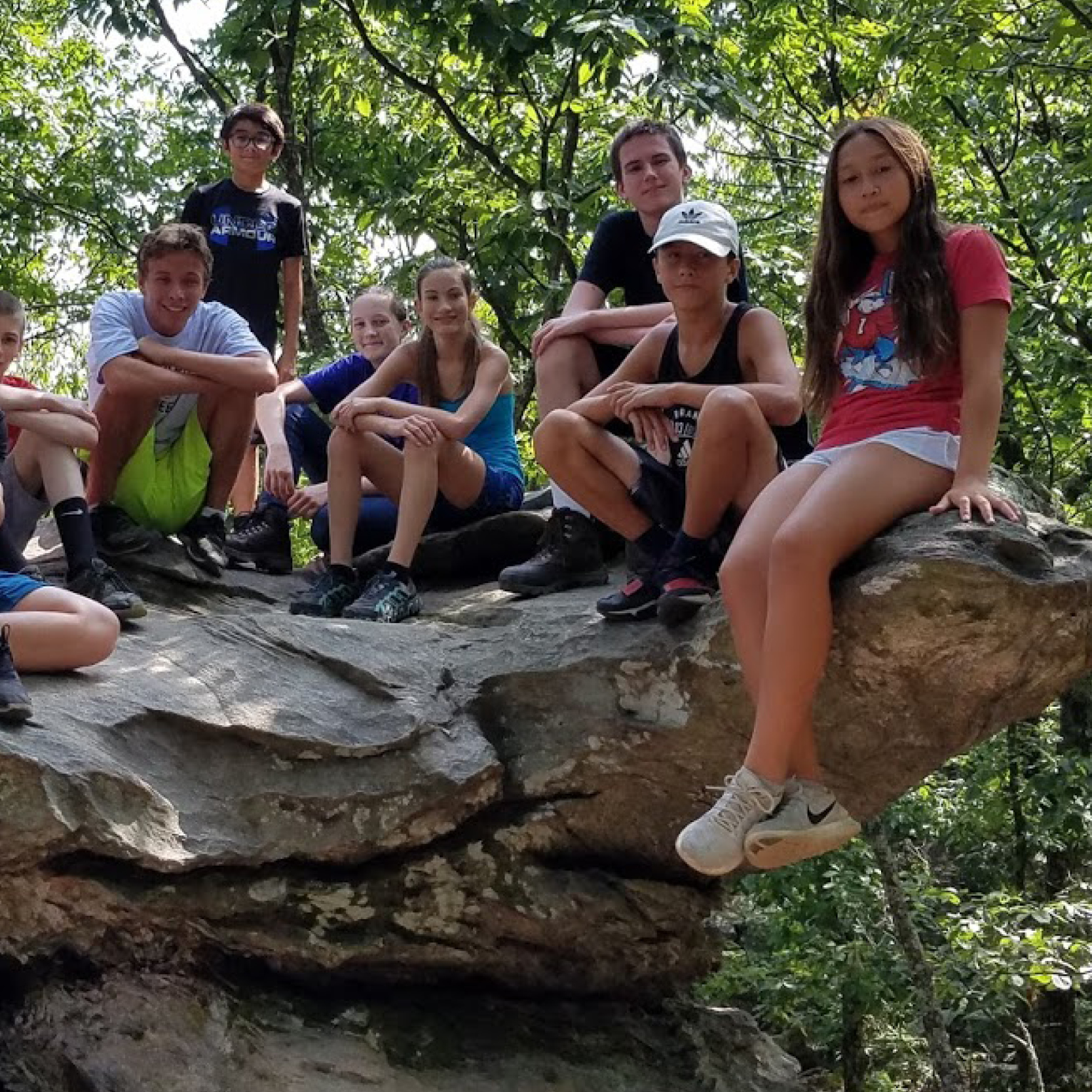 Xtreme Teen Week kids at hang rock