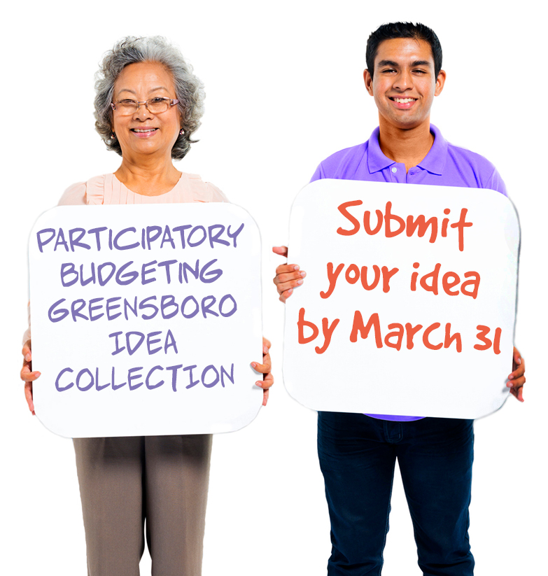 Participatory Budgeting Greensboro Idea Collection. Submit your idea by March 31.