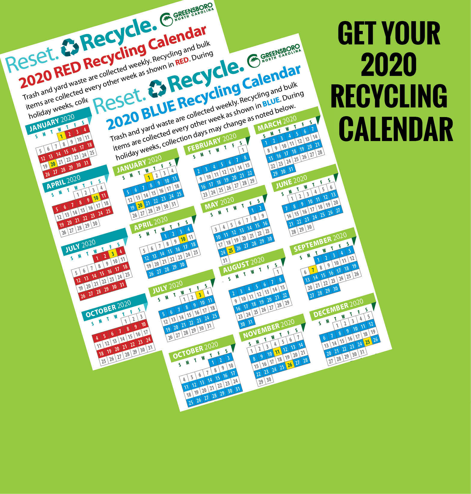 Spotlight recycling calendar image