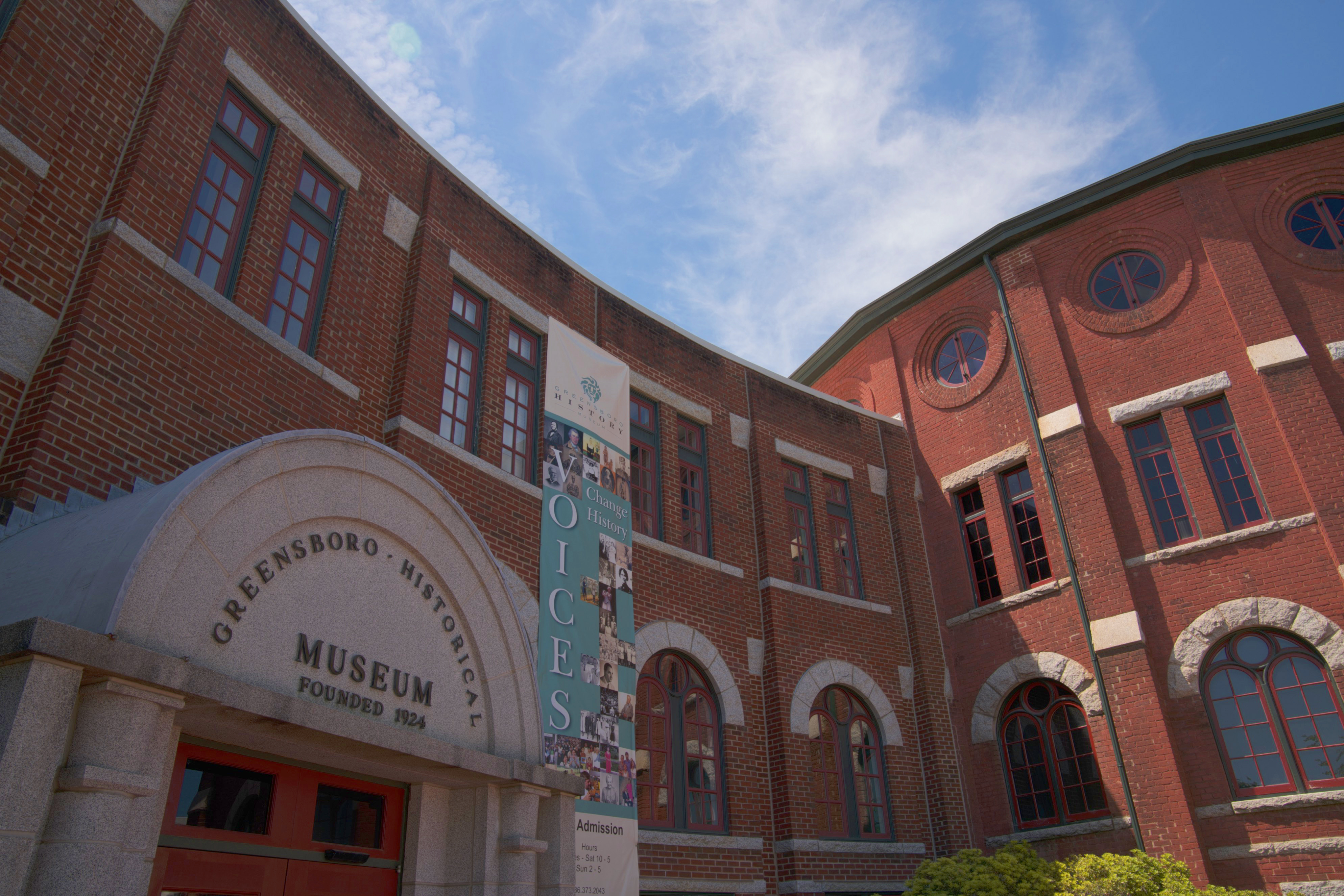 Entrance to Greensboro History Musem
