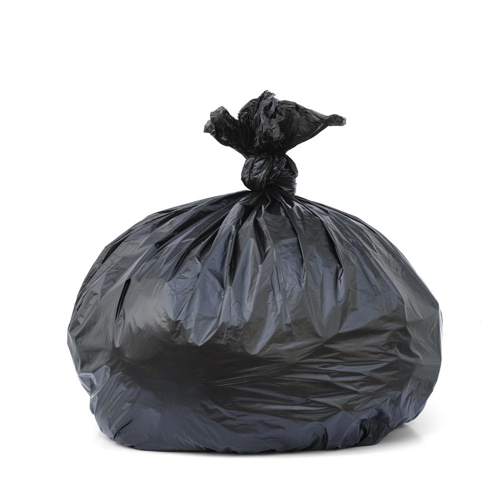 black bag of trash